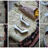 Стильные туфли-лодочки на прозрачном каблуке, р-р 40