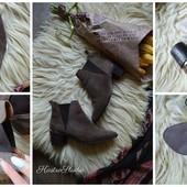 Натуральные ботинки-Челси с острым носочком, р-р 40