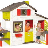 Игровой детский домик с кухней Friends House Smoby 810200