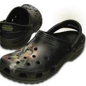 Оригинал кроксы crocs Unisex Classic star wars clog, black, 9 M US