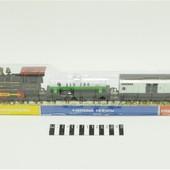 Железная дорога 307061 R/1802 паровоз, 2 вагона