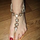 Босоножки сандалии шлепки с камнями 23,5