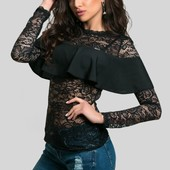 Элегантная женская гипюровая блуза