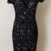 Новое кружевное платье-карандаш с красивой спинкой jane norman