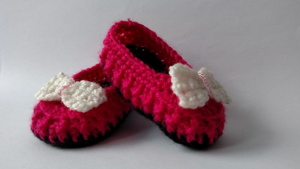 Пинетки туфельки на маленькую принцессу.9см подошва фото №1