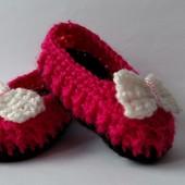 Пинетки туфельки на маленькую принцессу.9см подошва