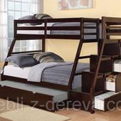 «Сицилия»: двухъярусная кровать-трансформер, массив дерева 1-го сорта!