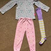 Пакет вещей( 3 штуки) для девочки 3-4лет; укрпочтой +10гр
