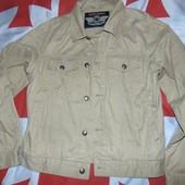 Стильний фирменний катоновий джинсовий  пиджак курточка бренд Basik Germany s-m