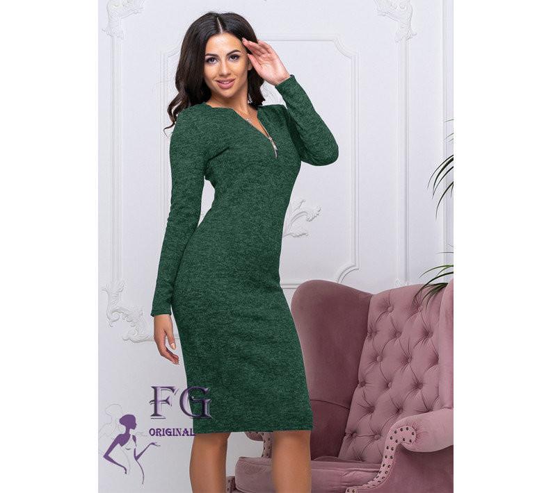 Платье миди ангора трикотаж 42-44 и 46-48 фото №1