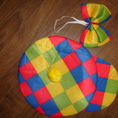 Клоунская кепка и бабочка универсальный размер