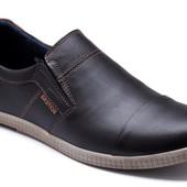 3 цвета Новинка! мужские кожаные туфли Модель:  153ч