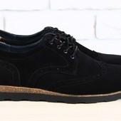 Код: 1940 Туфли - комфорт мужские черные замшевые