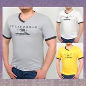 Новинка 2017! Коттоновая футболка с принтом Калифорния. 4 цвета.