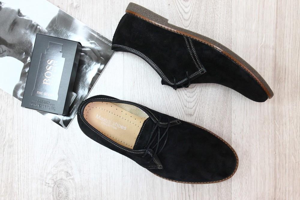 Туфли из натур. замши, р. 41,45, код ks-2260 фото №1