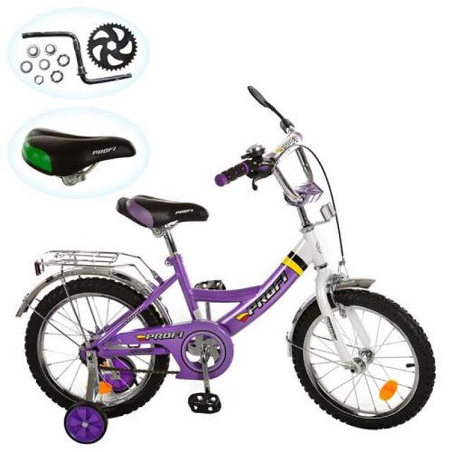 Велосипед profi детский 12д. p 1248a фиолетовый, каретка фото №1