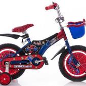 """Детский двухколесный велосипед Mustang Pilot Spider Man (12""""-дюймов)"""