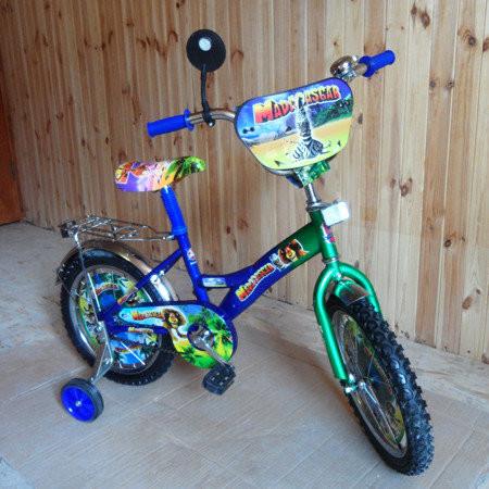 """Детский двухколесный велосипед Mustang - """"Мадагаскар"""" (12 дюймов) фото №1"""