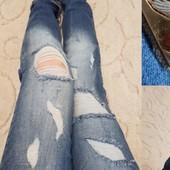 Размеры 42-48 Женские рваные джинсы