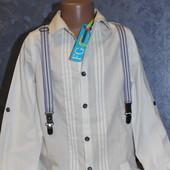 Стильная белая рубашка для мальчика от George. Хлопок