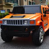 Детский электромобиль J1739 джип оранжевый