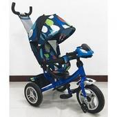 Детский трехколесный велосипед M 3115-5Hha-d синий (фара)