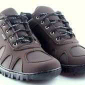 Стильные кроссовки мужские коричневые (Zk15)