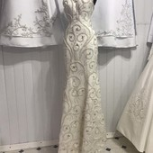 Платье нежное Нарядное, вечернее,  свадебное Полностью ручная вышивка Возможен индивидуальный пошив