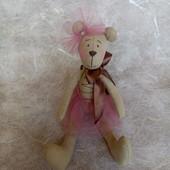 Мишка в стиле Тильда, текстильная игрушка, ручная работа