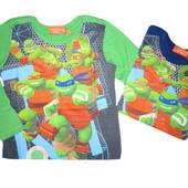 Детский реглан с ниндзя-черепашками, 104-140см, Nickelodeon (Turtles)