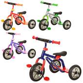 Детский трехколесный велосипед-самокат M 0688-3