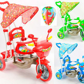 Велосипед GM 01 (3) 3-х колёсный с качалкой, 3 цвета