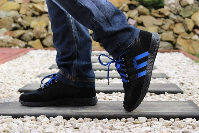 Кроссовки черно-синие Т20 фото №1