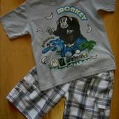 Хлопковая футболочка Обезьянка