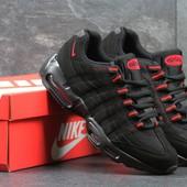 Кроссовки мужские Nike 95 black/red, Топ качество