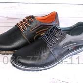 Мужские кожаные туфли, глянцевая кожа, 2 цвета