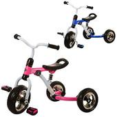 Трехколесный велосипед Bambi M 3207-1 EVA колеса, розовый и синий