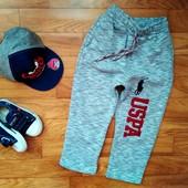 Крутые спортивные штаны с начесом р.98-104-110-116