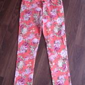 Фирменные яркие джинсы джеггинсы на 42-44 размер