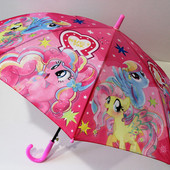 Яркий детский зонт зонтик трость для девочки Пони