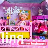 Кукла Defa 262 с кроваткой