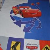 Качественный пододеяльник полуторная постель постельное белье Тачки Disney Дисней Молния Маквин