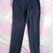 Чёрные классические мужские брюки р.48-50, высокий рост,как новые!