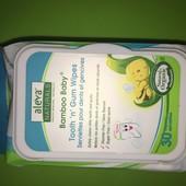 Aleva Naturals, Влажные салфетки Bamboo Baby для зубок и десен, 30 влажных салфетоК