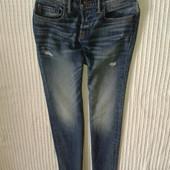 Бомбезные рваные супер скини мужские джинсы от Abercrombie & Fitch,p.30/30