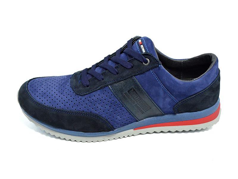 Мужские кроссовки с перфорацией Multi Shoes Nintendo синие фото №1