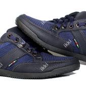 Мужские летние кроссовки синего цвета (БЛ-05с)