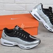 Кроссовки мужские Nike Air Max 95 q3 silver white black