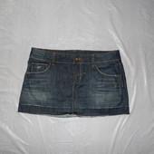 р. M, поб 48, юбка джинсовая Topshop с потертостями
