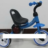Трехколесный детский музыкальный велосипед 1714 синий